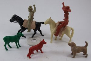 Vintage Cowboys Horses Farm Animals 1950's