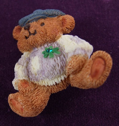St.  Patrick's Day Teddy Bear Pin by Avon from the 2000s