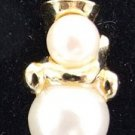 Snowman Clip Earrings by Avon from the 1990s