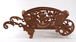 Vintage Small Wooden Flower Cart Centerpiece
