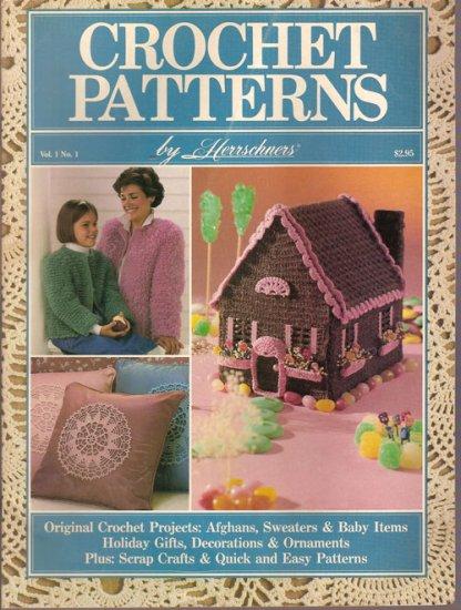 Crochet Patterns by Herrschners Vol. 1 No. 1 Sept Oct 1987
