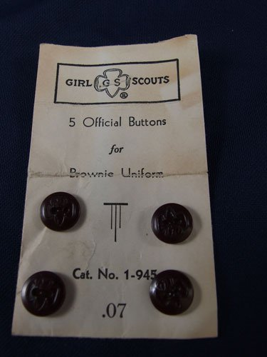 Girl Scout Brownie Uniform Buttons from the 1950's Scouting Scouts