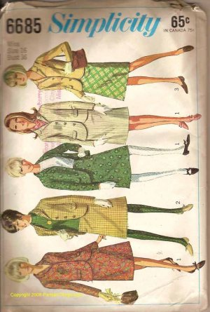 Simplicity 6685 Misses and Womens Suite  pattern