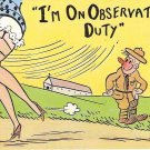 Color Cartoon Postcard from the '40's WWII I'm on Duty