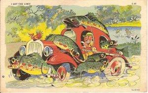 I got the limit cartoon postcard 1937