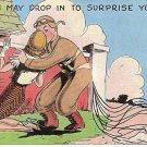 World War II ear cartoon postcard