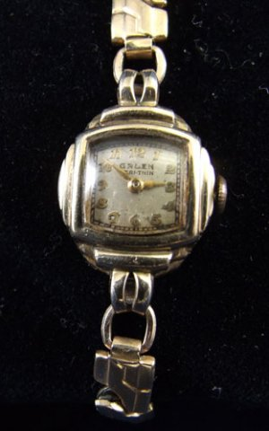 Vintage Gold Ladies Gruen Wristwatch Watch Veri Thin