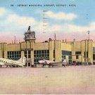 Detroit Municipal Airport Postcard  Air Port