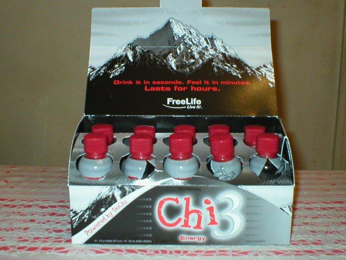 Chi3 Energy - 1 Box (10 - 2 oz bottles)