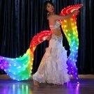 LED light up dance fan
