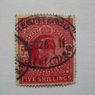 Edward VII Five Shilling Postage Stamp