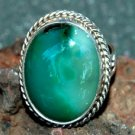 ladies chrysocolla ring