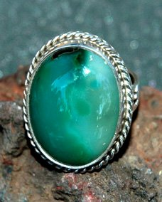 ladies chrysocolla ring
