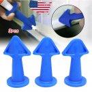 3 In 1 Silicone Caulking Finisher Tool Nozzle Plugs Calk Spatulas Glue Filler Spreader Sealant