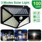 100 LED Solar Power Wall Lights PIR Motion Sensor Outdoor Garden Lamp Waterproof
