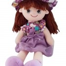 Molly the Rag Doll Baby Doll, brown hair doll