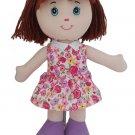 Heidi the Rag Doll Baby Doll, brown hair doll