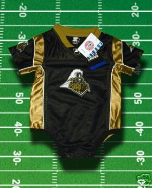 PURDUE BOILERMAKERS TODDLER FOOTBALL JERSEY 12 months, 18 months, or 24 months
