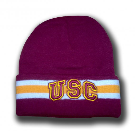 NCAA USC Sideline RARE Knit Beanie Ski Hat Southern Cal