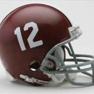 Alabama Crimson Tide Football RIDDELL Micro Helmet #12 mini helmet