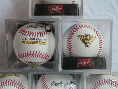 MLB Rawlings 2007 Pittsburgh All Star Game Ball Pirates Jason Bay With Display Case