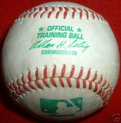 RARE MLB RAWLINGS Baseball MLB GAME Ball GREEN Print VERY RARE