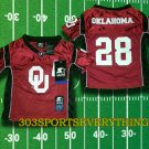 ADRIAN PETERSON OKLAHOMA Jersey Toddler Jersey #28 Toddler Football Jersey 2T, 3T, or 4T