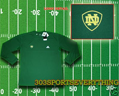 NOTRE DAME FIGHTING IRISH FOOTBALL UNDER ARMOUR ADIDAS LOOSE FIT UNDER ARMOUR S M L XL XXL