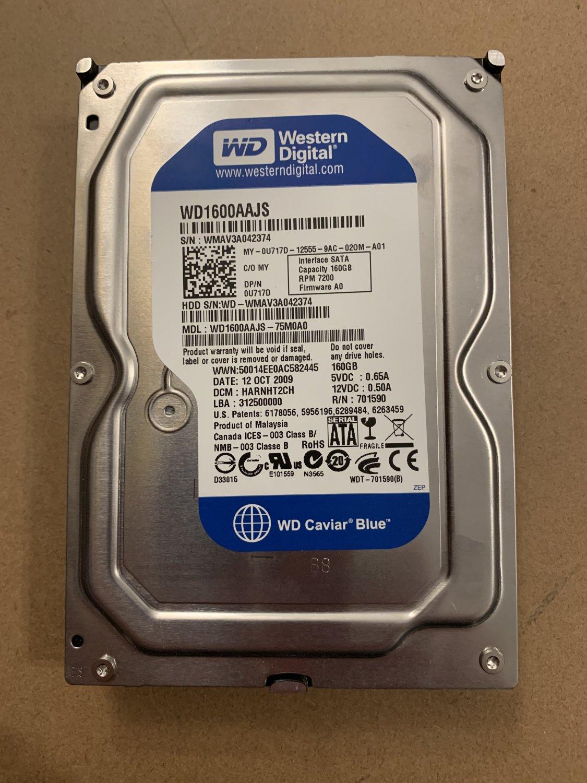 WD WD1600AAJS-75M0A0 HD 3.5 160GB SATA 7200RPM HDD