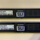 LOT OF 2 OCZ SLIReady Edition 4GB 2 x 2GB SDRAM DDR2 800 PC2 6400 OCZ2N800SR4GK
