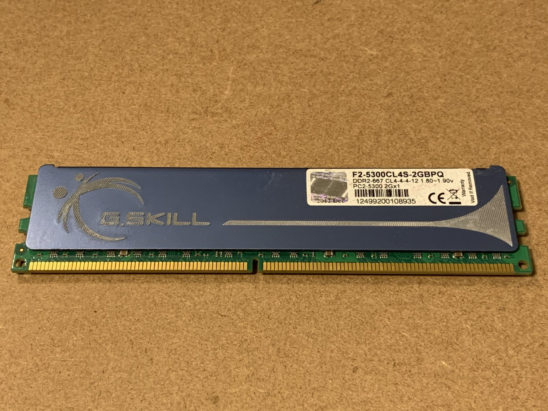 G.SKILL 2GB 240Pin DDR2 SDRAM DDR2 667 PC2 5300 Desktop Memory F2-5300CL4S-2GBPQ