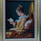 """Amazing vintage framed large 26.5"""" x 32.5"""" stitches needlework picture"""