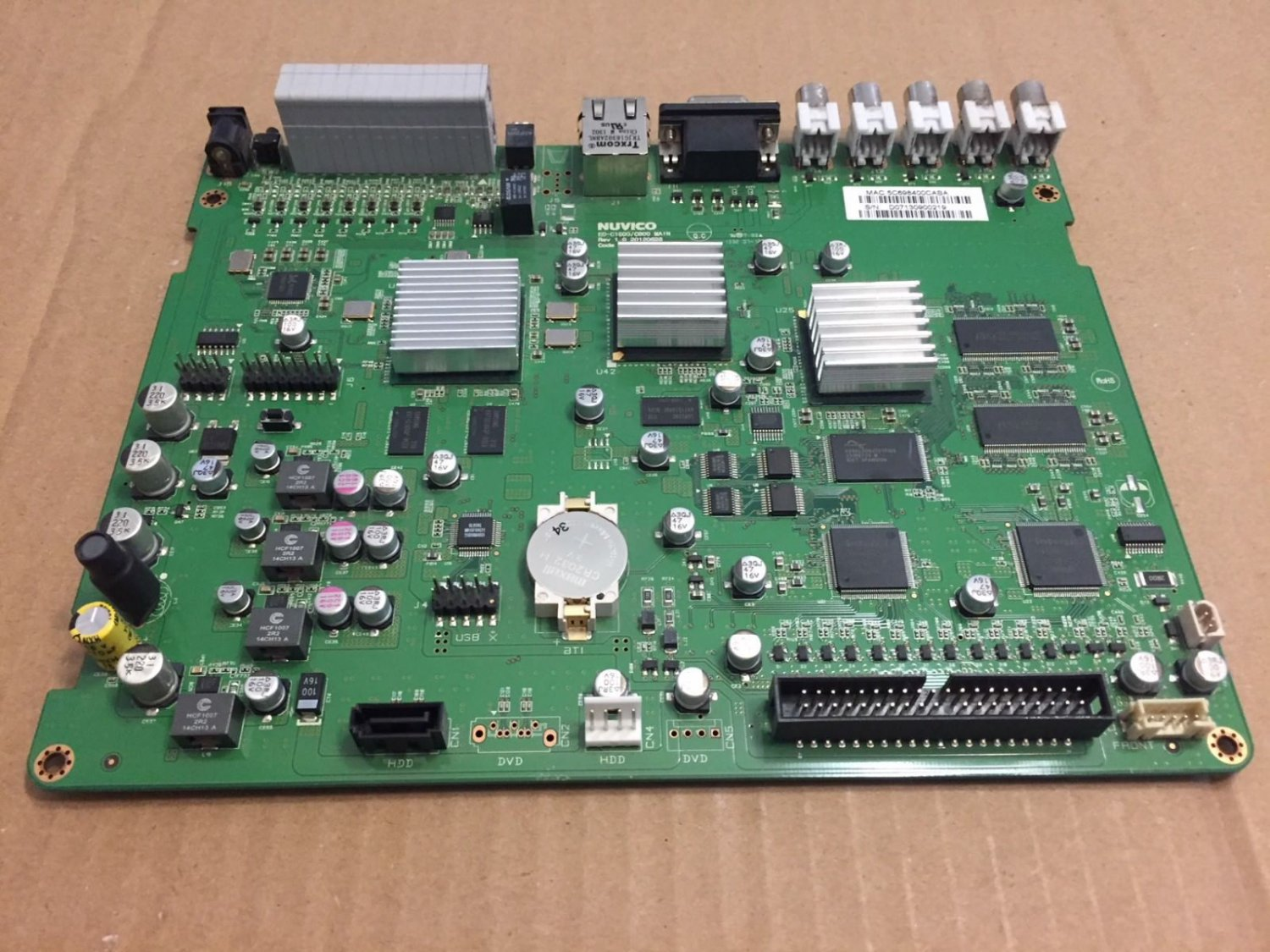 MAIN PCB ED-C1600/C800 FROM Nuvico ED-C1600 16 channel DVR