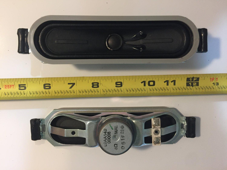 SPEAKERS SET L0AA14B00008 8 Ohms FROM PANASONIC TC-L32U3 LCD TV