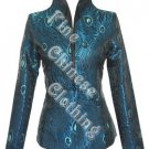 Women's Chinese Jacket - Elegant Peacock