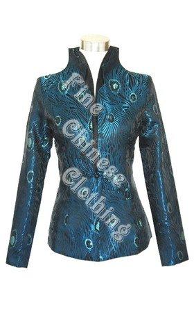 Women's Chinese Jacket - Elegant Peacock