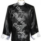 Men's Mandarin Jacket - Silver Color Folded Sleeves