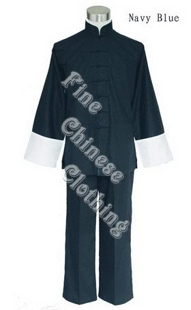 Chinese Men's Kung Fu Cotton Suit - Double-Collar