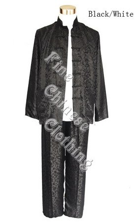 Men's Silk Suit - Chinese Classic 2 in 1 Style