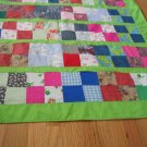 Lap Quilt or Table Cloth with four napkins quilted green