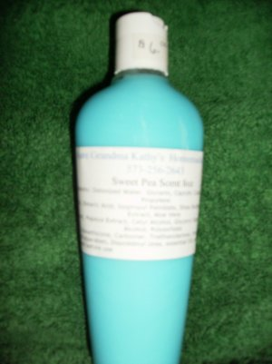 Sweet Pea Scented Homemade Lotion 8oz