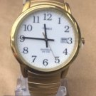 Timex Expandable Band Elastic for Men Gold Tone Brand New