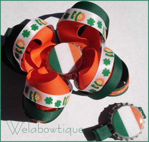 Irish Flag Hairbows