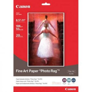 "Canon Fine Art Photo Rag Paper, 8.5"" x 11"", 20 Count"