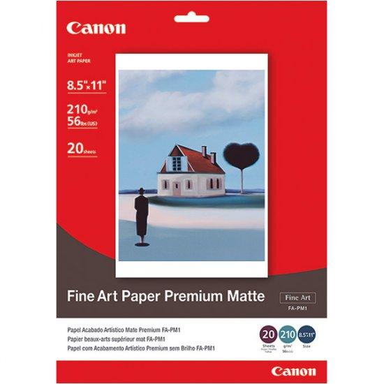 """Canon Fine Art Premium Matte Finish Paper, 8.5"""" x 11"""", 20 Count"""