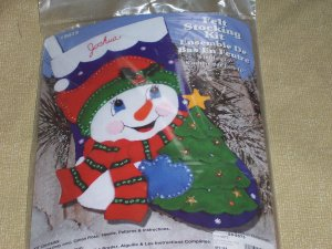 Snowman And Tree Stocking