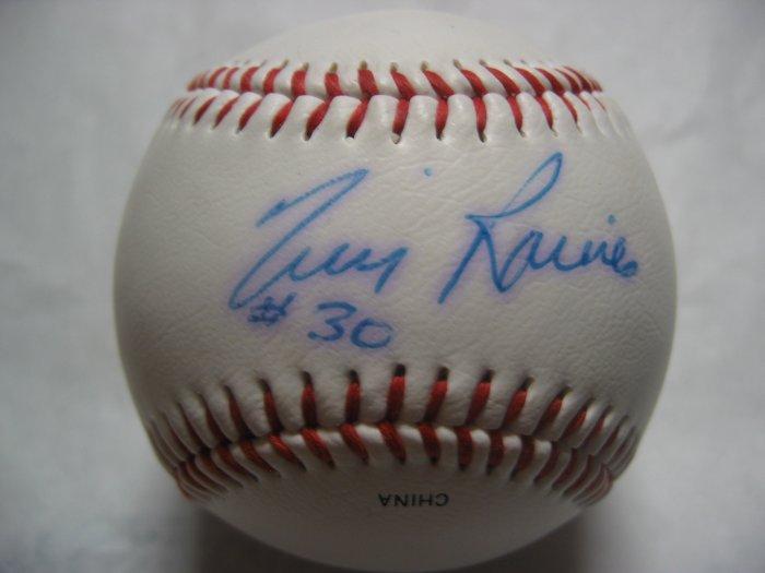 Tim Raines Autographed Official League Baseball