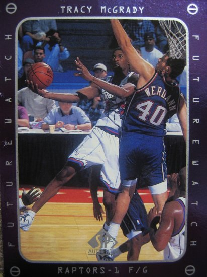 97-98 Sp Authentic Future Watch Tracy McGrady Rookie Card