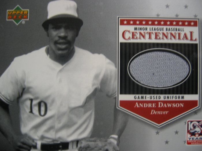 2001 Upper Deck Andre Dawson Centennial Game-Used Unifrom Card