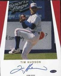 Tim Hudson Signed 8x10 Photo (Just Minors)